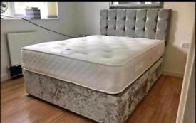 Uk manufactured Divan bedframes with Headboard & 10 inch mattress