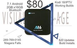 Android Boxes 7.1 2gb x 16gb bluetooth Kodi18/IPTV Installed $80