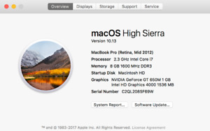15 inch Mac Book Pro - New Screen and Mother Board