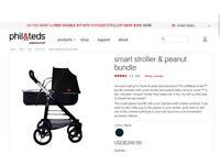 Phil & Teds Smart & Peanut bundle buggy & carry cot