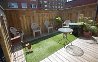 41/2 DOWNTOWN MC GILL GHETTO CENTRE VILLE 2 BR. / 4 APPLIANCES