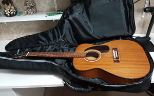 Vintage Harmony Acoustic slide guitar with gig bag