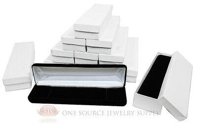 12 Piece Bracelet Black Velvet Metal Jewelry Display Boxes 8w X 2d X 1 18h