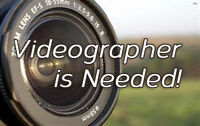 Part time Videographer is needed