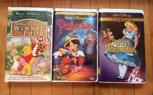 Lot of 3 Disney VHS Tapes