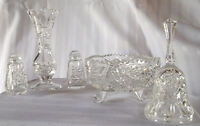 REDUCED PRICE---MOVING---Crystal S&P, Bell, Vase and Dish