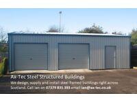 Steel Framed Double Car Garage Workshop Car Port Kit Building