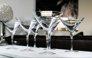 Martini Glasses, New/Mint, Set of 6
