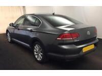 2015 GREY VW PASSAT 2.0 TDI 150 SE BUSINESS DSG SALOON CAR FINANCE FR £46 PW