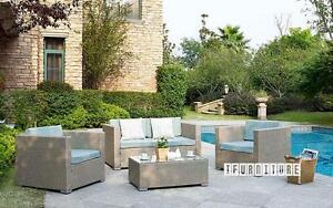 ifurniture Warehouse sale --Patio furniture PIHA 4 PC Patio Sofa Set