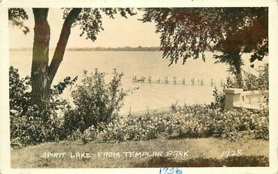 1936 Spirit Lake Iowa Templar Park #1728 RPPC Photo Postcard 20-4207