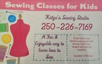 Sewing Classes for kids