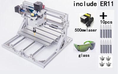 Bachin 3 Axis Mini Cnc2418 500mw Laser Engraving Milling Machine Er11 Router Kit