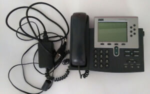 Cisco 7960 VoIP Phone with power adapter