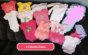 Newborn and 0-3 Month Baby Girl Clothes
