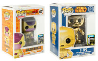 Funko POP ! Comic Con Exclusive Figures - C3PO - Frieza - SDCC