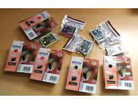 10 Genuine Epson Printer Cartridges for R1900 Printer! Sealed New! Unopened