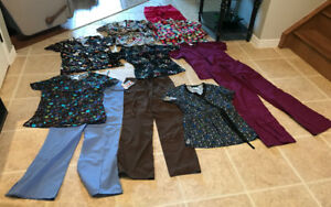 SCRUBS/UNIFORMS SIZE EXTRA SMALL,  11 PIECES FOR $75.00