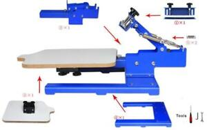 New Function Silk 1 Color Screen Printing Machine Incline 30 Degree Screen Frame T-shirt DIY Equipment 219004