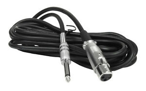 cable microphone 1/4 a XLR 25 pieds