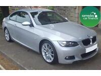 ONLY £184.99 PER MONTH SILVER 2008 BMW 320 2.0 M SPORT COUPE PETROL MANUAL
