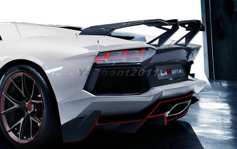 Carbon Rear Spoiler For 11-14 Lamborghini Aventador Lp700 Rzp Lamotta Gt Wing