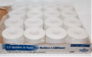 "2 1/4"" Calculator / Adding Machine Paper Tapes - 16 Rolls"