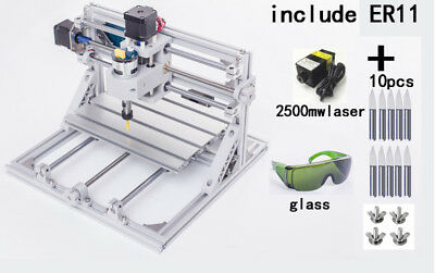 Bachin 3axis Mini Cnc2418 2500mw Laser Engraving Milling Machine Er11 Router Kit