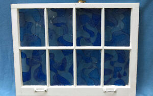 Stained Glass painted antique window