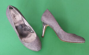 Style&Co High Heels Size 7.5 Silver Sparkle