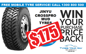 Jinyu Crosspro Mud Terrain Tyres + FREE mobile tyre service Joondalup Joondalup Area Preview