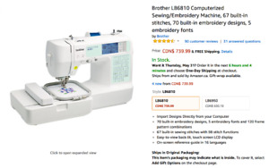 Brother LB6810 Computerized Sewing/Embroidery Machine