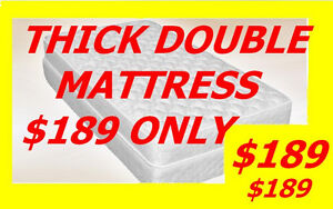 SUPER COMFY MATTRESS SALE THICK DOUBLE SIZE MATTRESS $ 189 ONLY