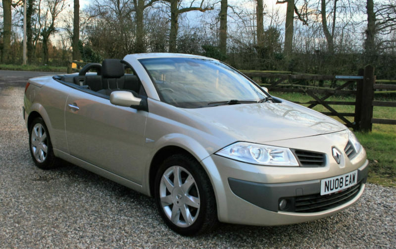 2008 renault megane 1 9dci dynamique 2dr convertible diesel saloon low mileage in chelmsford. Black Bedroom Furniture Sets. Home Design Ideas