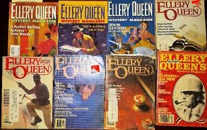 38 ELLORY QUEEN MYSTERY MAGAZINES VINTAGE