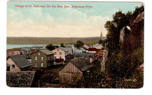 Carte postale ancienne St.Alphonse, Baie des Ha Ha, Qué.