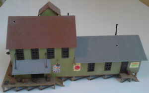 HO-scale train station, built