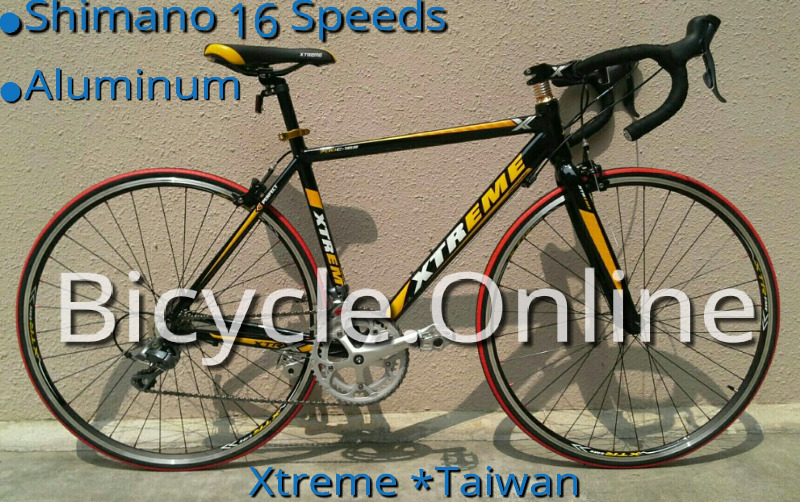 Xtreme 700C Racer Road Bike, Full Shimano 16 Speeds, light weight aluminum frame.  Brand new.