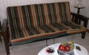 FUTON - Metal and Wood Frame - Excellent Condition