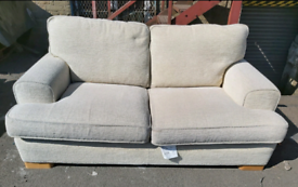 Sofa - Quality Extra Comfy 2 Seater Creamish Fabric Sofa
