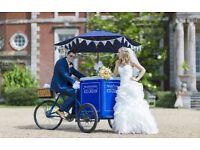 Vintage Ice Cream Tricycle & Crepe Britain Hire: Weddings, Corporate, Hampshire, W Sussex, Surrey..