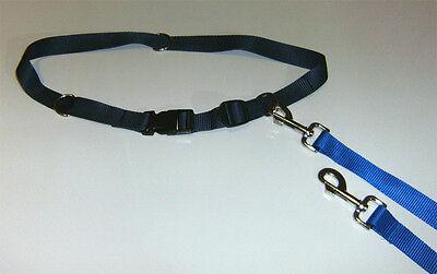 Joggingleine mit Hüftgurt / Hundeleine für 1-3 Hunde zum Laufen Joggen