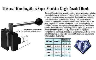 Aloris Bxa-h Universal Mounting Dovetail Head Tool Post