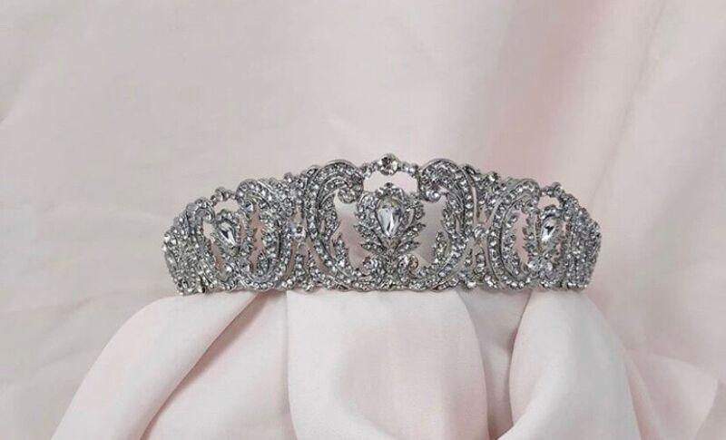 Vintage Wedding Tiara with Pavè Crystals