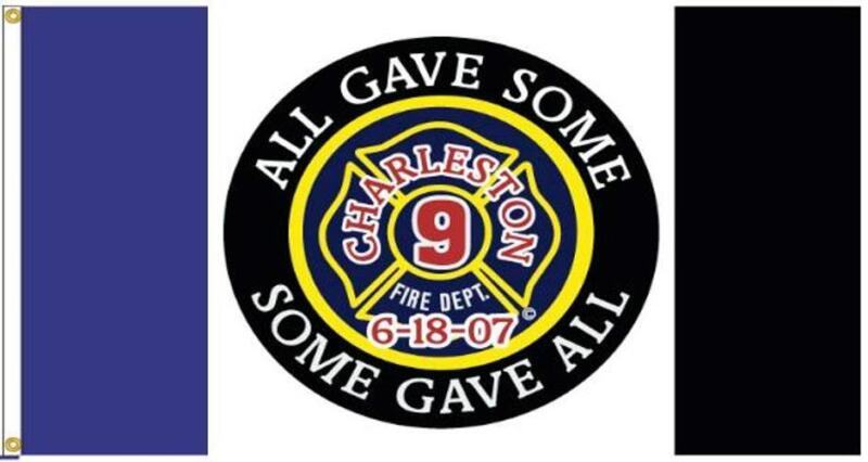 3x5 ft Charleston 9 Official Memorial Firefighter Flag Outdoor Nylon Made in USA