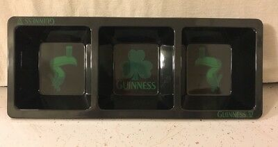 GUINNESS 3-SECTION DIVIDED SNACK TRAY BAR FOOD FOOTBALL MAN CAVE