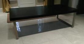 Black top coffee table