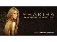 Shakira: El Dorado World Tour London O2 front of Arena ticket for Mon June 11th