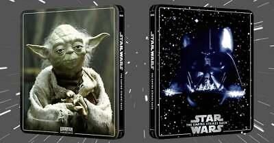 Star Wars Episode V Empire Strikes Back 4K + Blu-Ray 3 Disc Steelbook