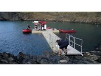 EZ-Dock Pontoons for fishing, water skiing, Mooring Boat, River work platform. For Sale or For Hire